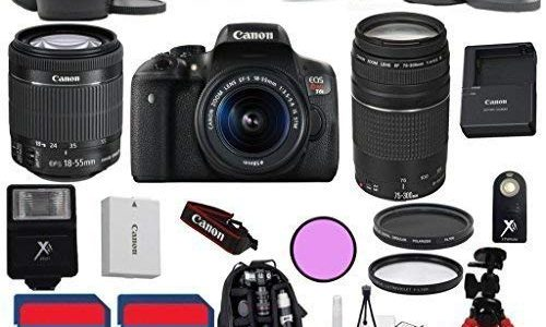 Canon T6i Camera with 18-55mm IS STM + 75-300mm III Zoom + 3Pc Filter Kit + Wide Angle + Telephoto + Spider Tripod + 2pcs 16GB Memory Cards + 22pc Kit – International Version Review