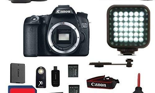 Canon EOS 70D DSLR Camera Body Premium Bundle with + Rechargeable LED Light + Premium Camera Carrying Case + 16GB SD Memory Cards + Great Value 15pc Bundle – International Version Review