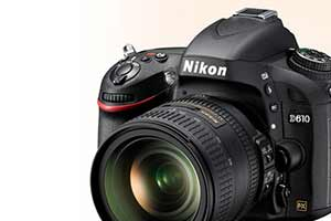 Product photo of the Nikon D610 D-SLR