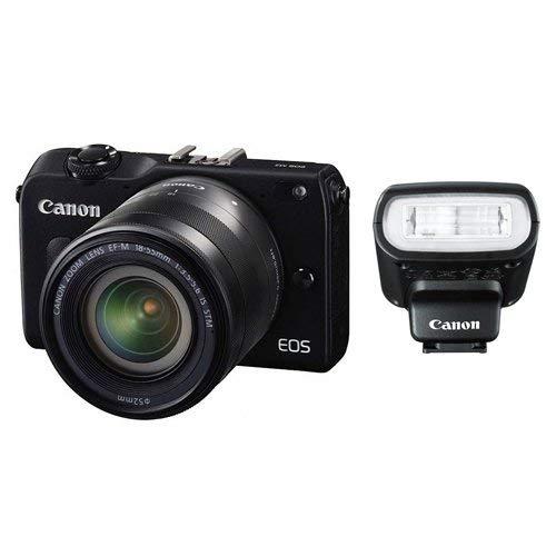 Canon EOS M2 Mark II 18.0 MP Digital Camera with 18-55MM F/3.5-5.6 IS EF-M STM Lens and 90EX Speedlight Flash(Black) - International Version (No Warranty)