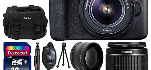 Canon EOS Rebel T6 Digital SLR Camera Body & 18-55mm EF-S f/3.5-5.6 is II Lens + Wide Angle Lens + Telephoto 2X Lens + Gadget Bag + 58mm UV Filter + 32GB SDHC Memory Card + Complete Accessory Bundle Review