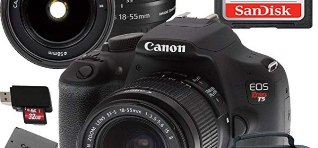 Canon EOS Rebel T5 Digital SLR Camera with EF-S 18-55mm IS II Kit Accessory Bundle + 32GB SD Card + Canon Case Review
