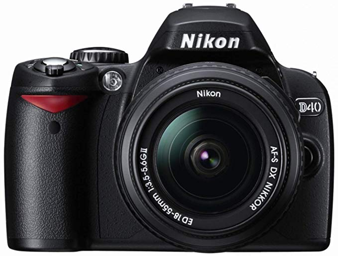 Nikon D40 6.1MP Digital SLR Camera Kit with 18-55mm f/3.5-5.6G ED II Auto Focus-S DX Zoom-Nikkor Lens