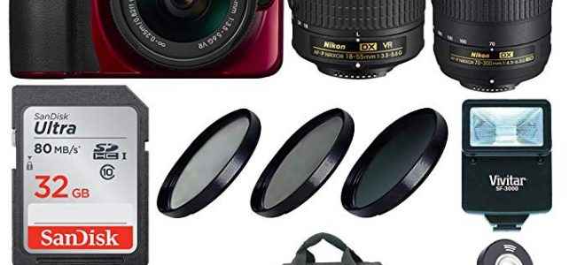 Nikon D3400 DSLR Camera (Red) w/ 18-55mm & 70-300mm Lenses & Accessory Bundle Review