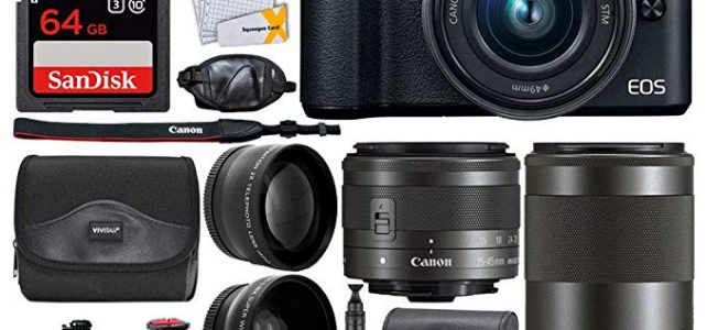 Canon EOS M50 Mirrorless Digital Camera + EF-M 15-45mm f/3.5-6.3 is STM & EF-M 55-200mm f/4.5-6.3 is STM Lens + Wide Angle & Telephoto Lens + 64GB Memory Card + 2X Tripods + Gadget Bag – Full Bundle Review