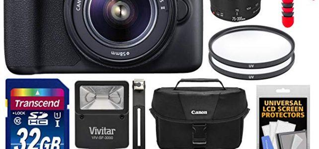 Canon EOS Rebel T6 Wi-Fi Digital SLR Camera & 18-55mm IS II + 75-300mm III Lens + 32GB Card + Battery + Case + Filters + Flex Tripod + Flash Kit Review