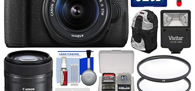 Canon EOS Rebel T6i Wi-Fi Digital SLR Camera & EF-S 18-55mm is & 55-250mm is STM Lens with 32GB Card + Case + Flash + Tripod + 2 Filters + Kit Review